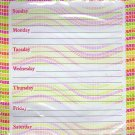 Magnetic Dry Erase Calendar - Weekly Planner - (Full sheet Magnetic) - v4
