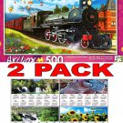 Steam Train in the Station by Vivien Chanelle - Art Box - 500 Piece Jigsaw Puzzle