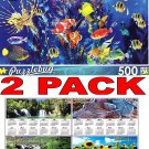 Colorful Aquarium Fish - 500 Piece Jigsaw Puzzle Puzzlebug + Bonus 2017 Magnetic Calendar