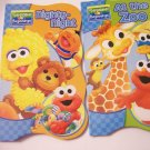 Sesame Beginnings Shaped Educational Board Books 2 Piece Set ~ At the Zoo and Nighty-Night