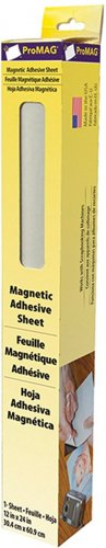 ProMag Adhesive Magnetic Sheet-1'X2'