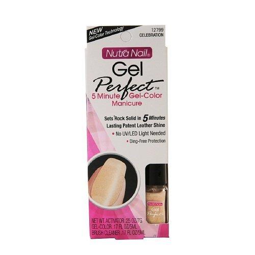 Nutra Nail Gel Perfect 5 Minute Gel-Color Manicure, Celebration 1 set