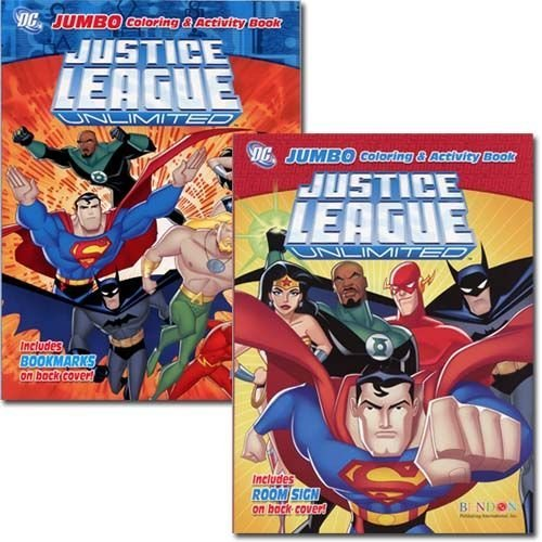 Justice League Jumbo Coloring & Activity Book 96 Pg - Assorted