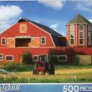Red Farmhouse - 500 Pc Jigsaw Puzzle