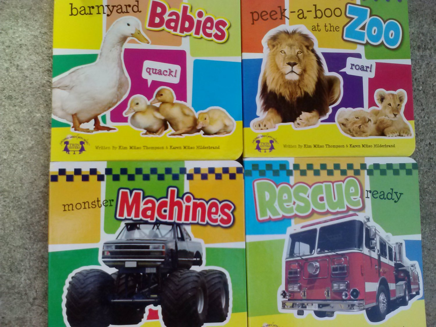 Baby Books (Assorted) Barnyard Babies, Peek-a-Boo Zoo, Monster Machines or Rescue Ready