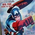 Marvel Captain America Big Fun Book to Color ~ True Patriot