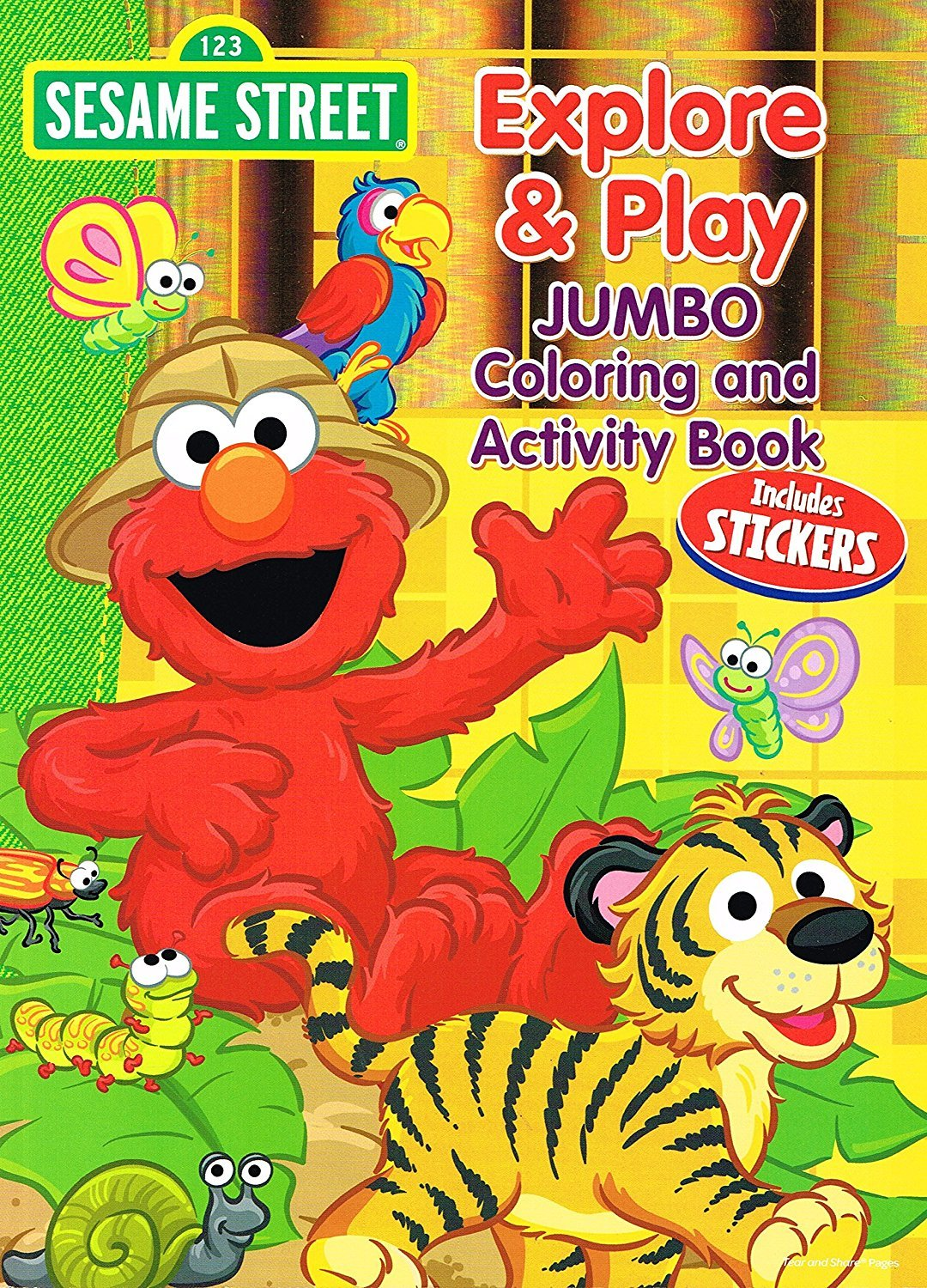 Sesame Street Explore & Play Jumbo Coloring & Activity Book (Includes Sticker)