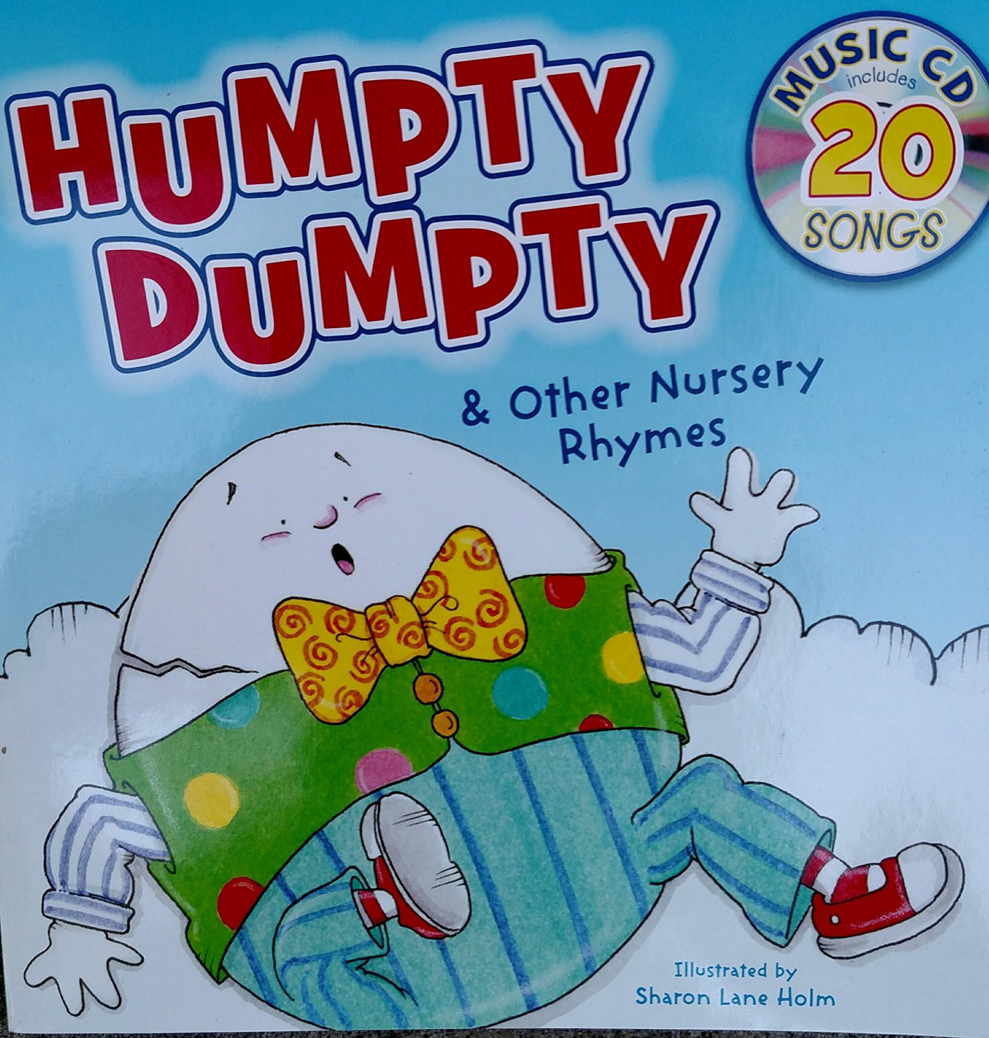 Humpty Dumpty & Other Nursery Rhymes with 20 Songs Music CD  . Book .