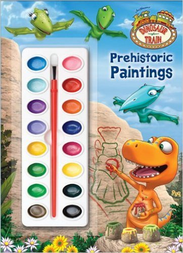 Prehistoric Paintings (Dinosaur Train) (Deluxe Paint Box Book)
