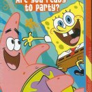 SPONGEBOB SQUAREPANTS PARTY INVITATIONS (8 INVITATIONS ; 8 THANK YOU POSTCARDS)