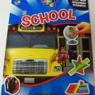 Educational Things You See Sticker Book ~ At School (Over 50 Reusable Stickers)
