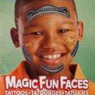 Temporary Tattoos ~ Shark Face Magic Fun Faces ~ 2 Sheets