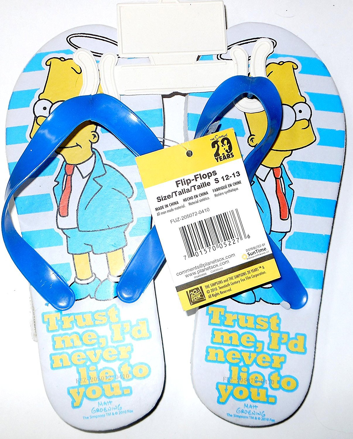 The Simpsons Flip Flops Size 12 - 13 (Kids)