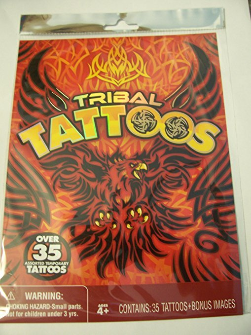 Savvi Tribal Tattoos ~ Over 35 Tattoos + Bonus Images (Red Flaming Falcon Cover)