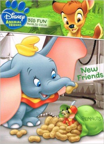 Disney Animal Friends Big Fun Book to Color ~ New Friends