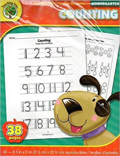 Counting - 38 Educational Sheets Workbook - Kindergarten