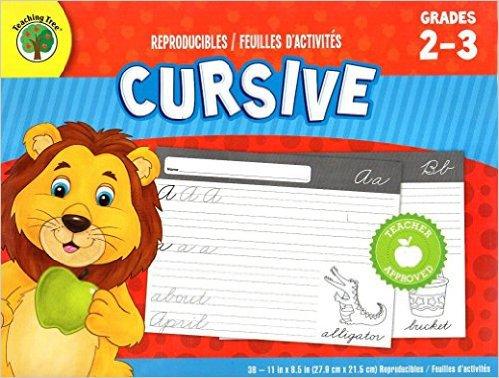 Cursive - Reproducible 38 Educational Sheets Workbook - Grades 2-3