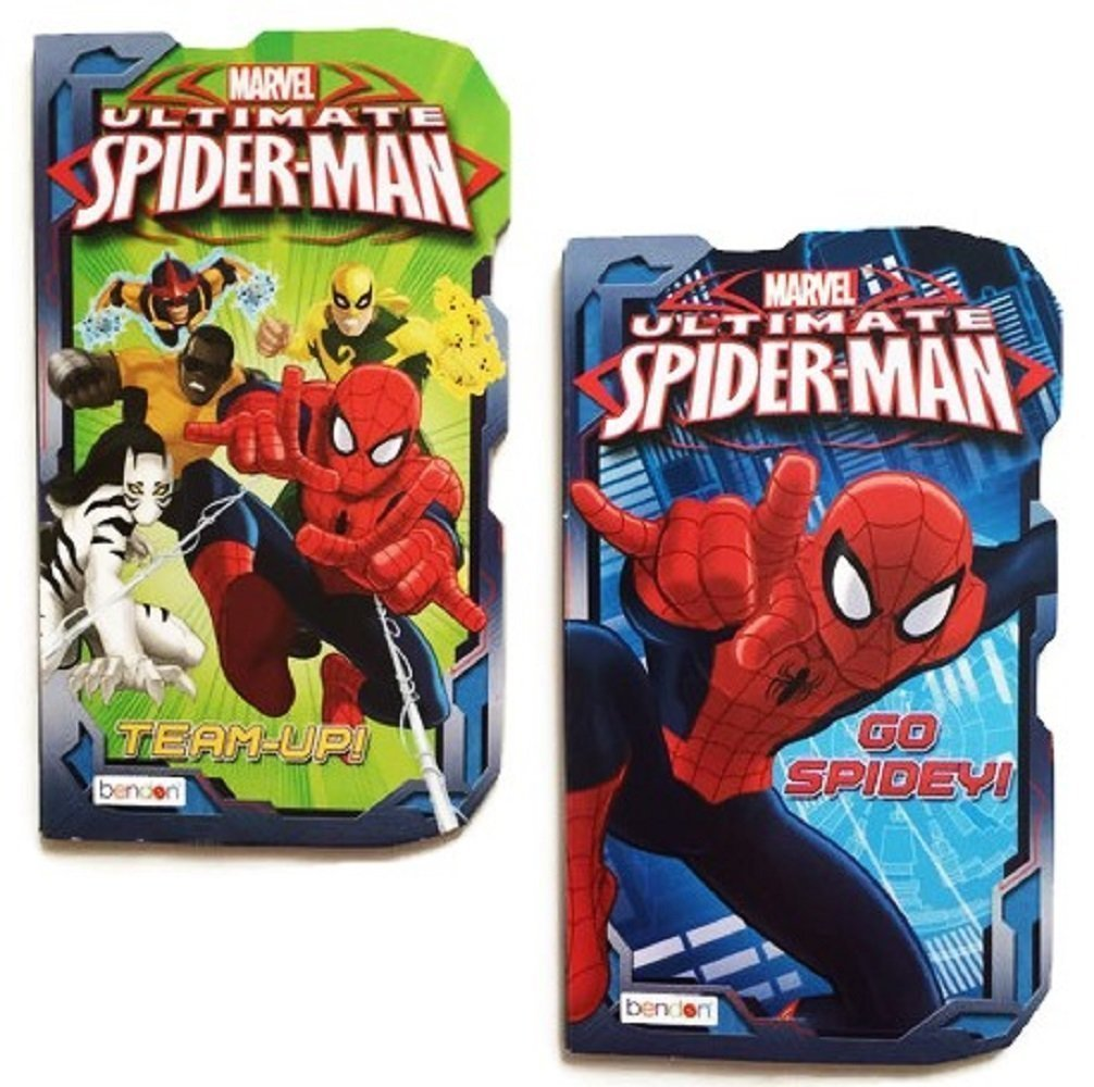 Marvel Ultimate Spider-Man Board Books, 2-book Set Team-Up! and Go Spidey!