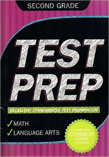 Second Grade Math & Language Arts Test Prep Workbook (Aligned with Common Core Standards)