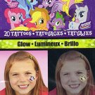 My Little Pony 20 Glow Temporary Tattoos - 20 Tattoos By Savvi