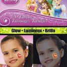 Disney Princess 20 Glow Temporary Tattoos - 20 Tattoos By Savvi