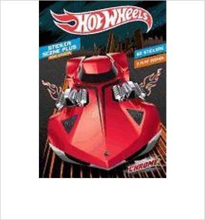 Hot Wheels Chrome: Sticker Scene Book to Color