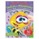 Funny Faces Bugs Sticker & Coloring Book with 50 Stickers by Mike Polito