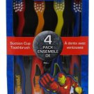 Dr. Fresh Marvel Heroes Standing Toothbrush, 4 Pack