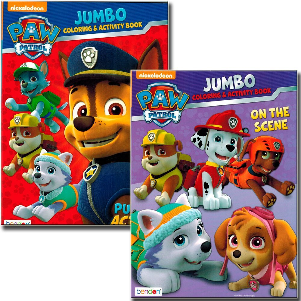 PAW Patrol Coloring and Activity Book Set (2 Books ~ 96 Pages)