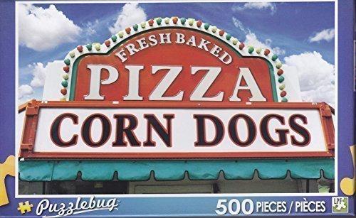 Puzzlebug 500 Piece Jigsaw Puzzle ~ Pizza and Corndog Sign