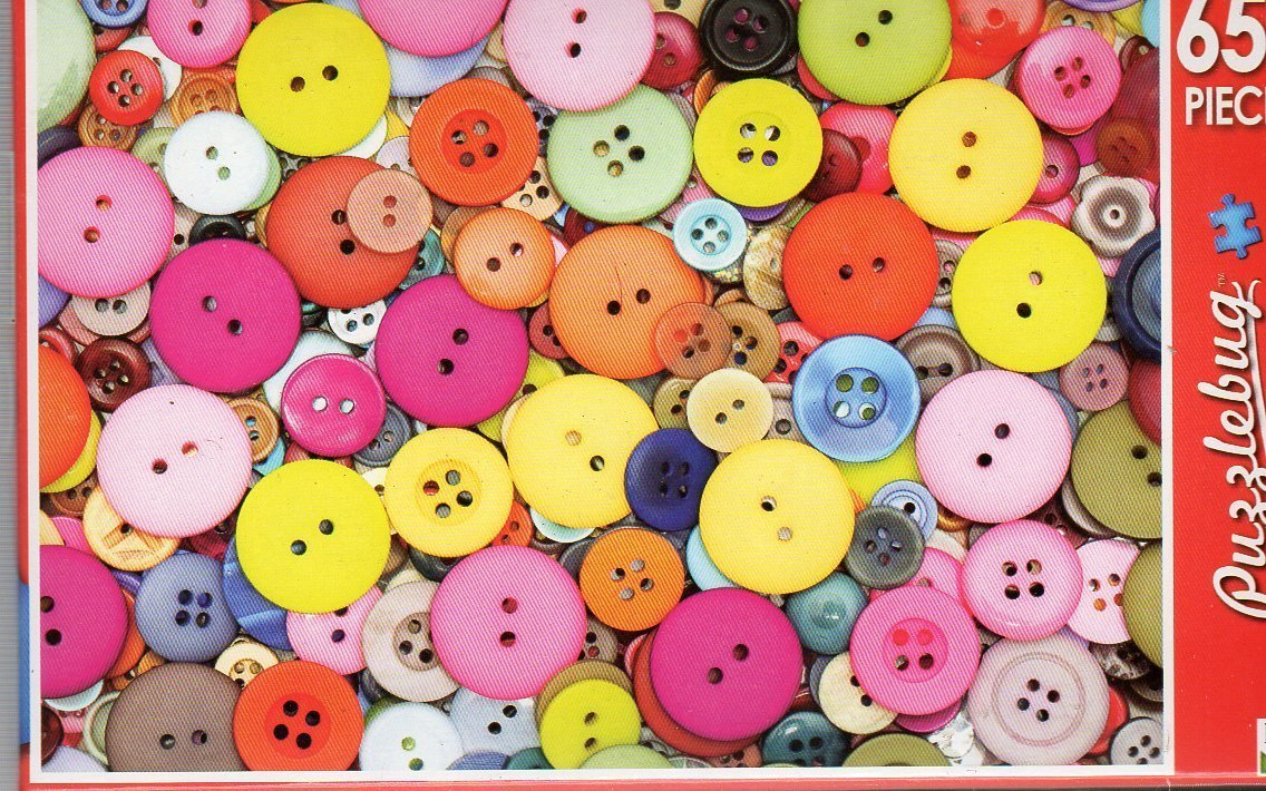Colorful Pastel Buttons - Puzzlebug - 650 Pieces Jigsaw Puzzle