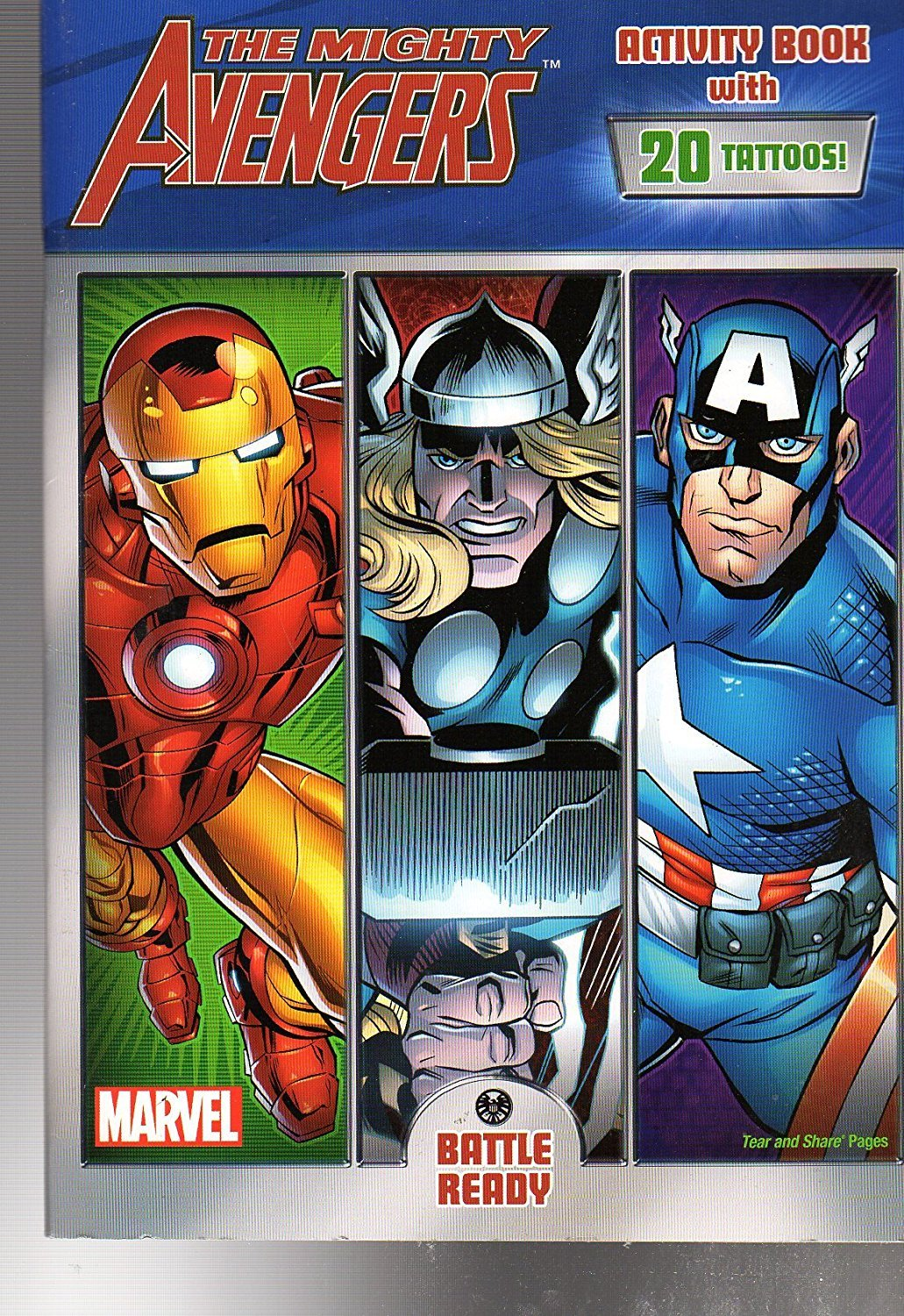 The Mighty Avengers - Activity Book with 20 tattoos