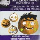 Halloween Foam Pumpkin Decorating Kits - Makes 4