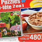 Farm Hands / American Pie - Total 480 Piece 2 in 1 Jigsaw Puzzles