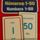 School Zone Bilingual Spanish English Numbers Numeros) 1-50 Flash Cards Grades P-K