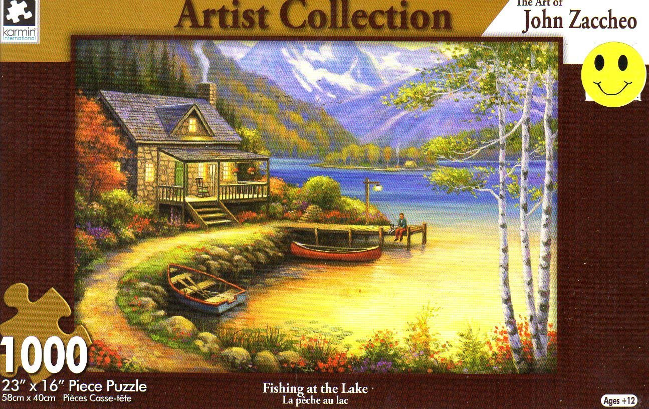 Fishing at the lake - 1000 Piece Jigsaw Puzzle - Artist Collection