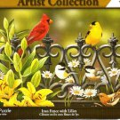 Iron Fence with Lilies - 1000 Piece Jigsaw Puzzle - Artist Collection
