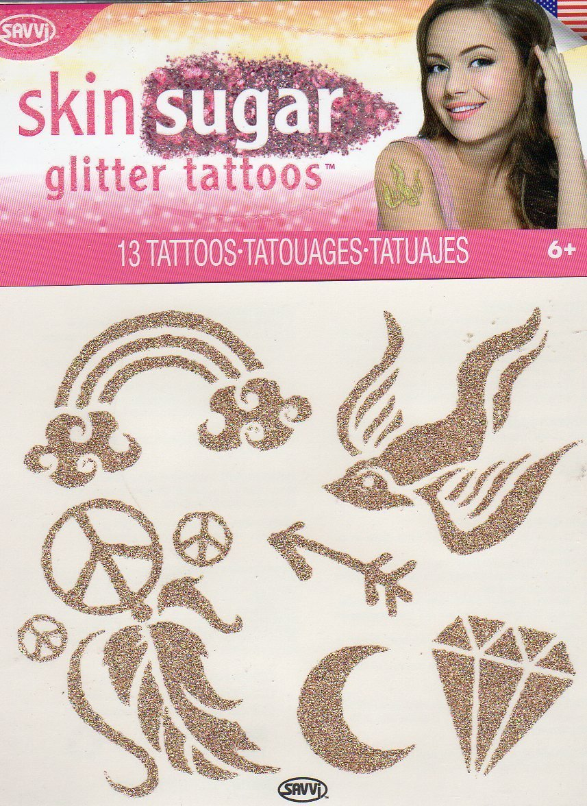 Skin Sugar - Glitter Temporary Tattoos - 13 Tattoos By Savvi - V3