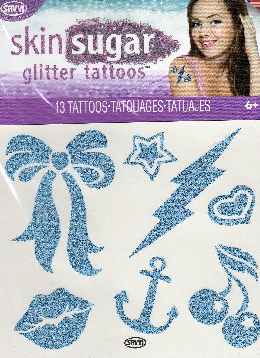 Skin Sugar - Glitter Temporary Tattoos - 13 Tattoos By Savvi - V2