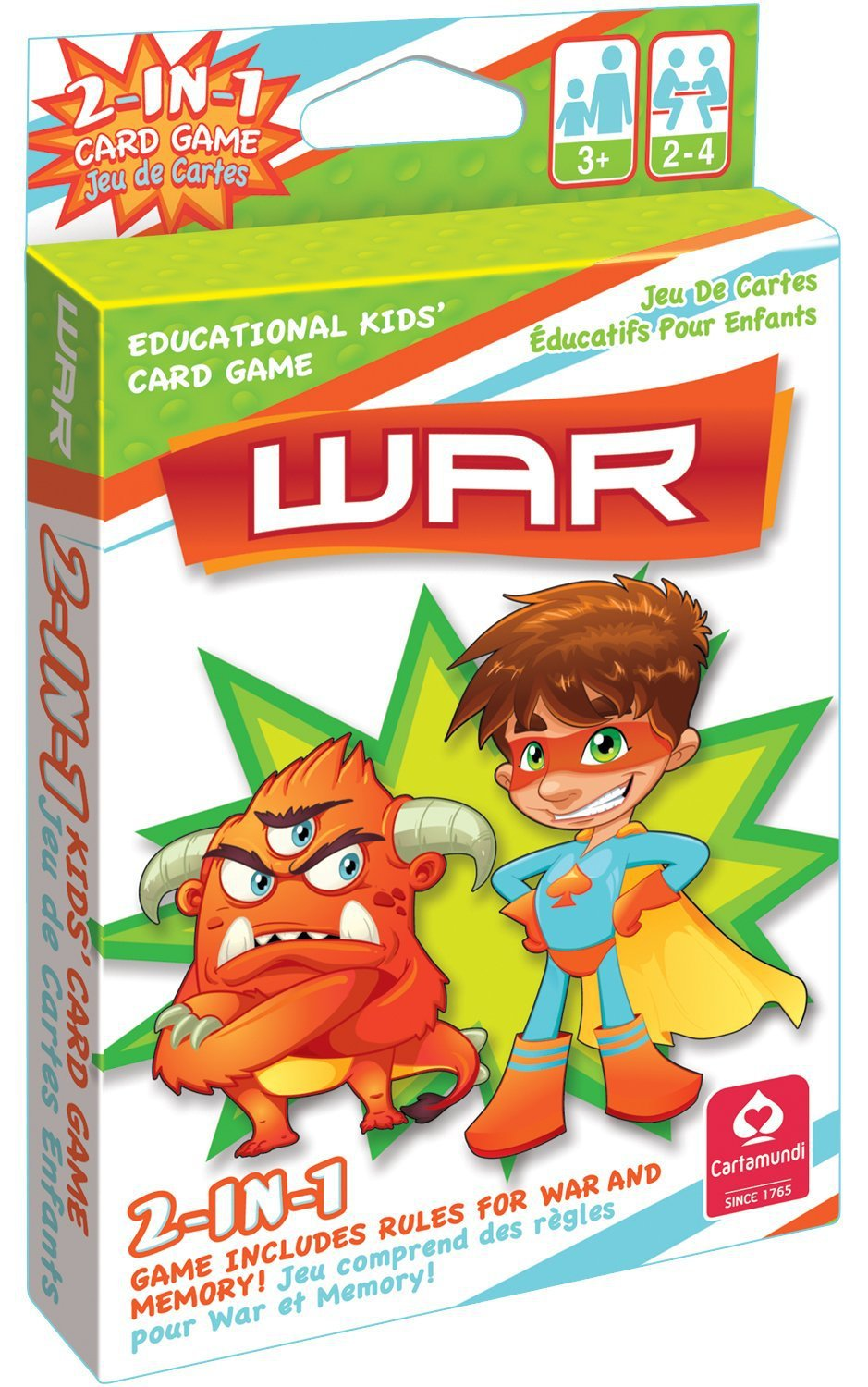 2 In 1 Card Game War & Memory by Carta mundi by Cute Toys
