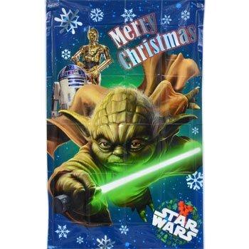 "Star Wars Yoda - Large Plastic Holiday Wall Mural 30"" x 48"""