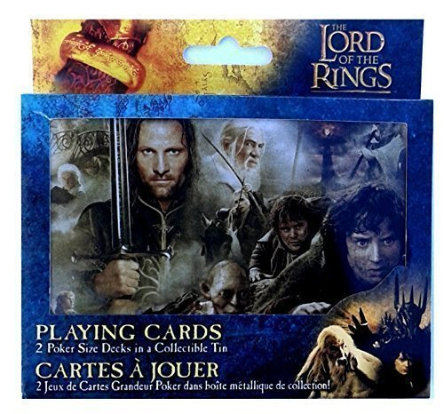 Collectible Lord of the RINGS ~ 2 poker size Decks in a Collectible Tin~ 2012