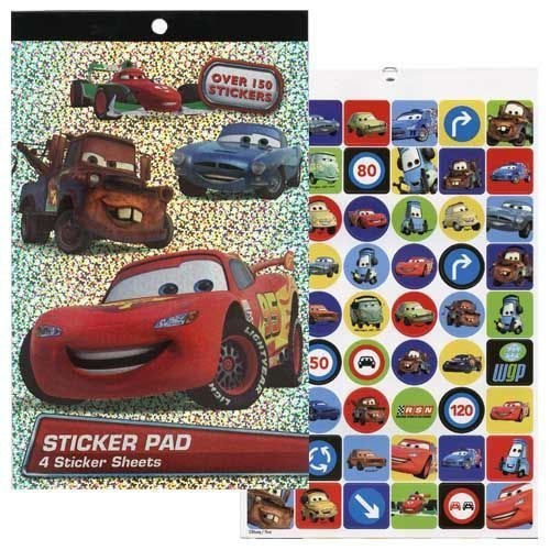 Disney Cars 4 Sheet Sticker Pad with Over 150 Stickers