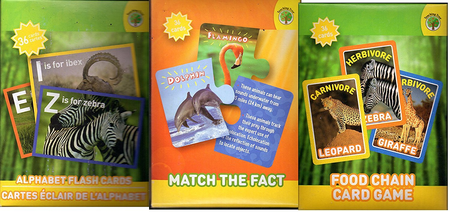 Set of 3 National Geographic Flash Cards