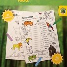 National Geographic & Teaching Tree ~ Kids Land Animals Activity Pad ~ Coloring Flip Pad