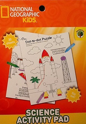 National Geographic & Teaching Tree ~ Kids Science Activity Pad ~ Coloring Flip Pad