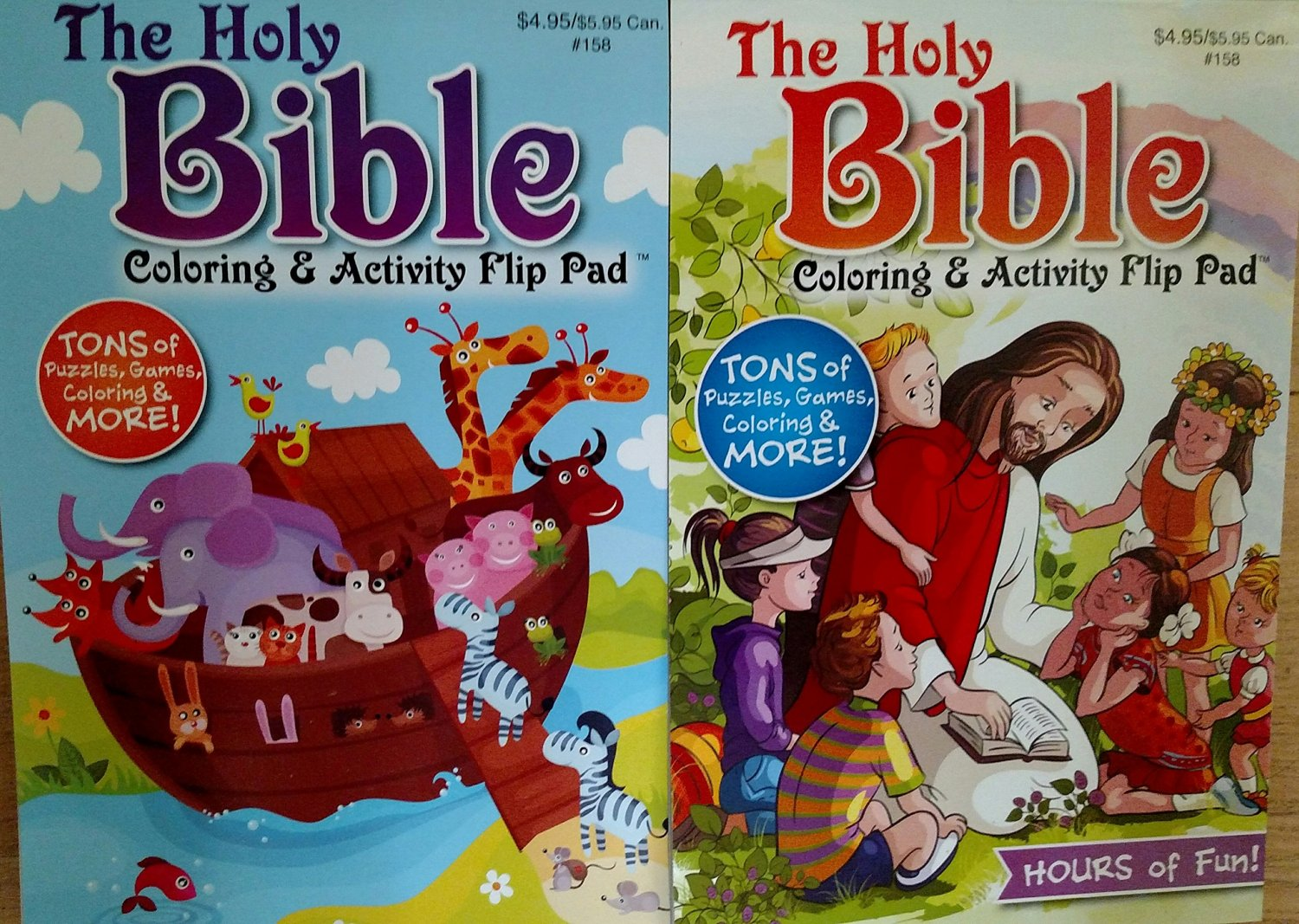 The Holy Bible Coloring & Activity Flip Pad. Assorted