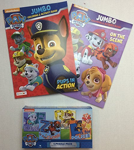 Paw Patrol Jigsaw Puzzle and Coloring Books Bundle by Nickelodeon