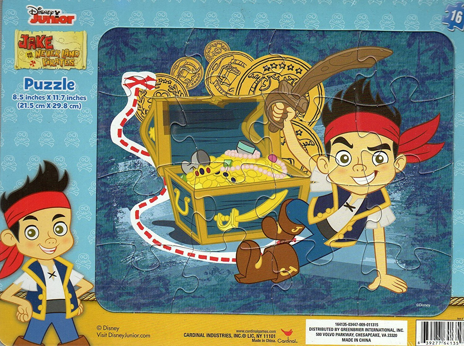 Disney Junior - Jake and the Never Land Pirates - 16 Pieces Jigsaw Puzzle