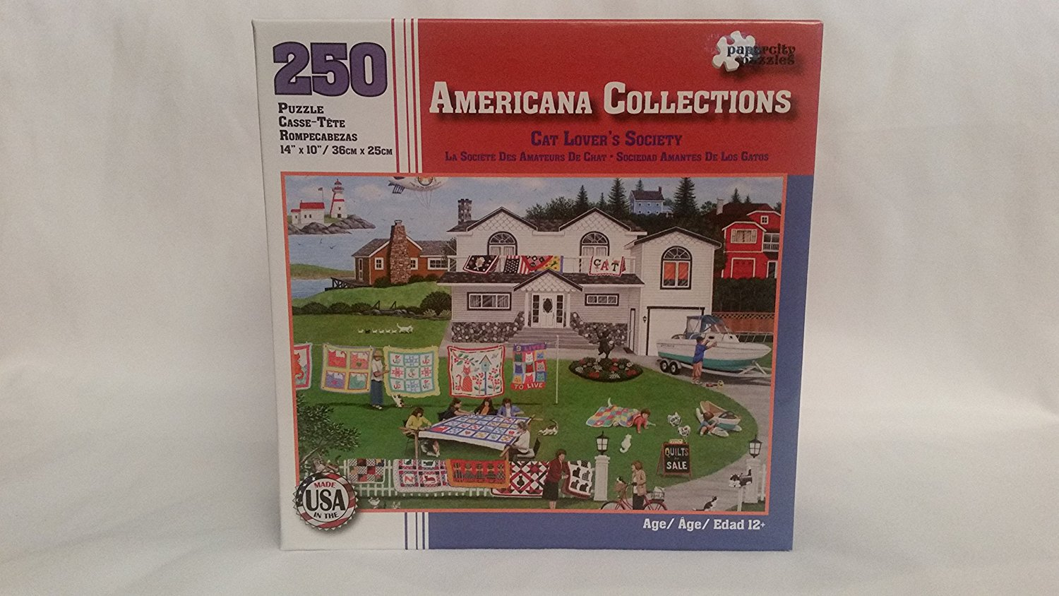 Americana Collections 250 Piece Jig Saw Puzzle Cat Lovers Society